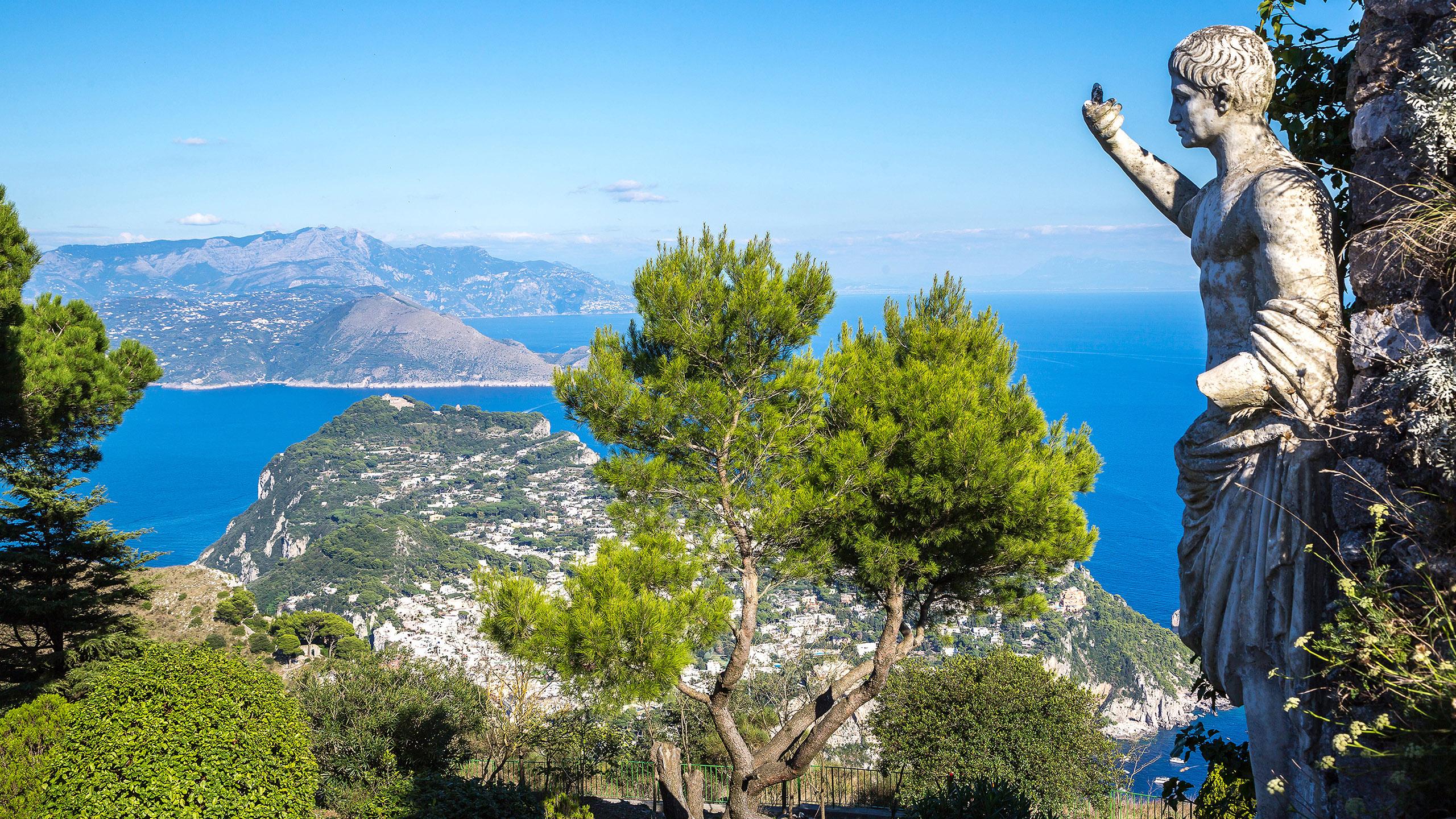 Italy island Capri coast Faraglioni-Felsen sea Europe golf ... |Capri Italy Golf